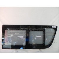 TOYOTA HIACE 220 SERIES - 4/2005 to 4/2019 - COMMUTER VAN - SLWB - RIGHT SIDE FRONT BONDED SLIDING WINDOW GLASS - MIDDLE PIECE SLIDES BACKWARDS