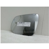 ISUZU D-MAX 4DR - 6/2012 ONWARDS - UTE - LEFT SIDE MIRROR - CURVED GLASS ONLY - 183 X 155 - SUITS BACKING 9403-SR1400