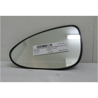 HOLDEN BARINA TM - 10/2011 to CURRENT - 5DR HATCH - PASSENGERS - LEFT SIDE MIRROR - WITH BASE - FLAT GLASS - 180MM WIDE X 120MM TALL