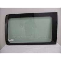 VOLKSWAGEN TRANSPORTER - T5/T6 - 8/2004 TO CURRENT - SWB VAN - DRIVERS - RIGHT SIDE REAR BONDED WINDOW GLASS - 920 X 560 - GREEN