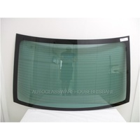 SUBARU LIBERTY/OUTBACK 5TH GEN - 9/2009 to 12/2014 - 4DR SEDAN - REAR WINDSCREEN GLASS - DARK GREEN - 5 PLUG