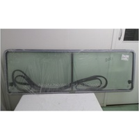 MERCEDES SPRINTER SWB - 2/1998 to 8/2006 - VAN - RIGHT SIDE REAR SLIDING WINDOW GLASS - GREEN - DOUBLE OPENING