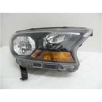 FORD RANGER PX - PT - 10/2011 to CURRENT - UTE - DRIVERS - RIGHT SIDE HEADLIGHT - EB3B-13W029-CK - BLACK