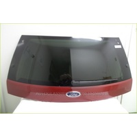 FORD TERRITORY SZ - 5/2011 to CURRENT - WAGON - REAR TAILGATE GLASS - PRIVACY TINTED (PLASTIC CRACKED) - RED - BRISBANE PICK UP ONLY