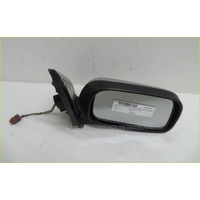 NISSAN PULSAR N15 - 10/1995 to 9/2000 - HATCH - DRIVERS - RIGHT SIDE MIRROR - SILVER - COMPLETE - E13 02*0043 - BROWN 3 PLUG