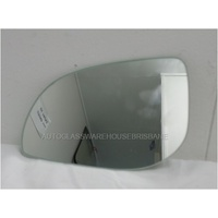 HYUNDAI i20 PB - 7/2010 to CURRENT - HATCH - LEFT SIDE MIRROR - FLAT GLASS ONLY - 170mm WIDE  X 115mm TALL