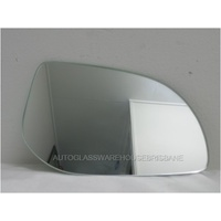 HYUNDAI i20 PB - 7/2010 to CURRENT - HATCH - RIGHT SIDE MIRROR - FLAT GLASS ONLY - 170mm WIDE X 115mm TALL