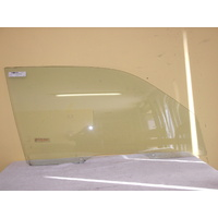 TOYOTA STARLET KP90 - 3/1996 to 9/1999 - 3DR HATCH - DRIVER - RIGHT SIDE FRONT DOOR GLASS - Holes (Aussie)