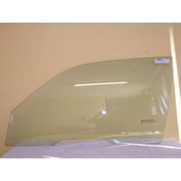 TOYOTA STARLET EP90/EP91 - 3/1996 to 9/1999 - 3DR HATCH - PASSENGERS - LEFT SIDE FRONT DOOR GLASS - HOLES (AUSSIE)