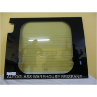 FIAT DUCATO 2/2007 to CURRENT - VAN - LEFT SIDE REAR BARN DOOR GLASS - HEATED - GREEN (APROX 830 X 670 WITH CUT OUT FOR HINGE)
