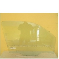NISSAN NAVARA D40 - 8/2008 to 3/2015 - 2DR/4DR UTE - DRIVERS - RIGHT SIDE FRONT DOOR GLASS - THAILAND - 2 WHITE LUGS
