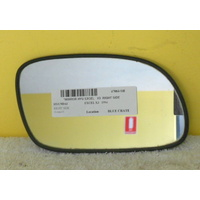 HYUNDAI EXCEL X3 - 9/1994 to 4/2000 - 5DR HATCH/4DR SEDAN - RIGHT SIDE MIRROR WITH BACKING PLATE