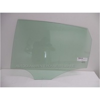 VOLKSWAGEN POLO - 5/2010 to 11/2017 - 5DR HATCH - LEFT SIDE REAR DOOR GLASS - GREEN