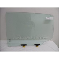 HOLDEN COLORADO RG - 6/2012 to CURRENT - 4 DR DUAL CAB - LEFT SIDE REAR DOOR GLASS (WITH FITTINGS)