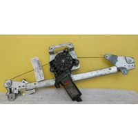 HOLDEN COMMODORE / CREWMAN -VY/VZ - 4DR SED/WAG  2002>2007 - RIGHT SIDE REAR DOOR ELECTRIC WINDOW REGULATOR-(Oval Plug)
