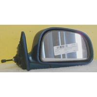 PROTON PERSONA - 5DR HATCH 5/95>3/05  RIGHT SIDE COMPLETE MANUAL MIRROR-BLUE