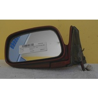 suitable for TOYOTA PASEO - 2DR COUPE 6/91>10/95  LEFT SIDE-COMPLETE ELECTRIC MIRROR  MAROON - 3 PIN WHITE PLUG