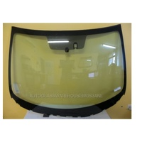 MAZDA 3 BL - 4/2009 to 11/2013 - SEDAN/HATCH - FRONT WINDSCREEN GLASS - WITH RAIN SENSOR, MOULDING