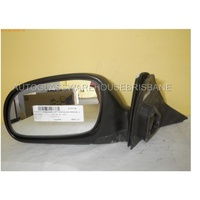 HYUNDAI EXCEL X3 - 9/1994 to 4/2000 - 3DR HATCH - LEFT SIDE MIRROR -  MANUAL - COMPLETE - BLACK (SWTICH MISSING)