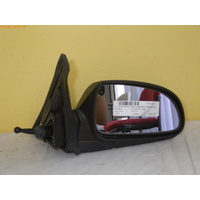 HYUNDAI ACCENT LC - 5/2000 to 4/2006 - 3/5DR HATCH - RIGHT SIDE MIRROR - MANUAL - COMPLETE - BLACK