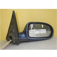 DAEWOO NUBIRA J100/J150 - 7/1997 TO 12/2003 - SEDAN/HATCH/WAGON - RIGHT SIDE MIRROR - COMPLETE - BLUE - ELECTRIC ( BLACK PLUG,5 WIRES)