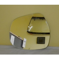 TOYOTA PRADO 120 SERIES - 2/2003 to 10/2009 - 5DR WAGON - LEFT SIDE MIRROR - FLAT GLASS OLNY - 193mm WIDE X 163mm HIGH