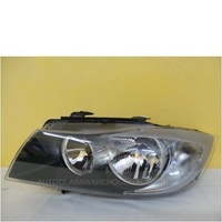BMW 3 SERIES E90 - 3/2005 to 3/2008 - 4DR SEDAN - PASSENGER - LEFT SIDE HEADLIGHT - NEW - NO LED, NO HID'S, NO STEERING ADJUST
