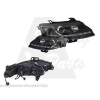 FORD FALCON FG - 5/2008 to CURRENT - 4DR SEDAN - RIGHT & LEFT SIDE LED HEADLIGHT SET - BLACK