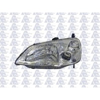 HONDA CIVIC ES - 4DR SEDAN 1/03>12/03 - PASSENGER - LEFT SIDE HEADLIGHT - CLEAR BLINKER - NEW