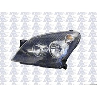 HOLDEN ASTRA AH - 5DR HATCH/WAGON 9/04>10/06 - PASSENGER - LEFT SIDE HEADLIGHT - BLACK - NEW