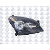 HOLDEN ASTRA AH - 5DR HATCH/WAGON 9/04>10/06 - DRIVERS - RIGHT SIDE HEADLIGHT - BLACK - NEW
