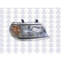 MITSUBISHI CHALLENGER - WAGON 9/00>6/04 - DRIVERS - RIGHT SIDE HEADLIGHT - CHROME EDGE - NEW