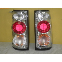 HOLDEN RODEO TF - UTE 7/88>12/96 - TAIL LIGHT PAIR - BLACK (EURO) type 1 - NEW (clear lens)