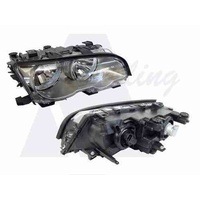 BMW 3 SERIES E46 - 6/1999 to 9/2001 - 2DR COUPE - DRIVERS - RIGHT SIDE HEADLIGHT - NEW ( SILVER/GREY)