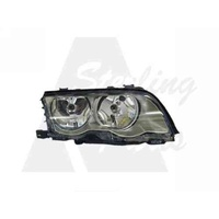BMW 3 SERIES E46 - 8/1998 TO 11/2001 - 4DR SEDAN - DRIVERS - RIGHT SIDE HEADLIGHT - NEW (SILVER/GREY)