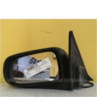 MAZDA 626 GF/GW - 4/5DR SED/HAT/WAG 8/97>8/02 - LEFT SIDE COMPLETE ELECTRIC MIRROR - SILVER (white plug)