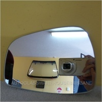 HYUNDAI i30 -  5DR HATCH 5/12>CURRENT - LEFT SIDE MIRROR - NEW (flat mirror glass only) 175 mm WIDE X 123mm TALL