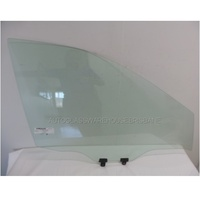 NISSAN X-TRAIL T32 - 3/2014 to CURRENT - 5DR WAGON - RIGHT SIDE FRONT DOOR GLASS - WITH FITTINGS  - GREEN